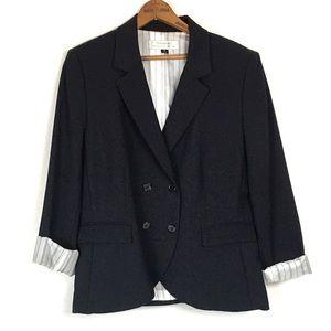 Tahari Cuffed 3/4 Sleeve Blazer